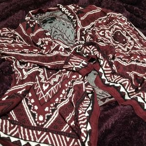Forever 21 kerchief cardigan (A2)